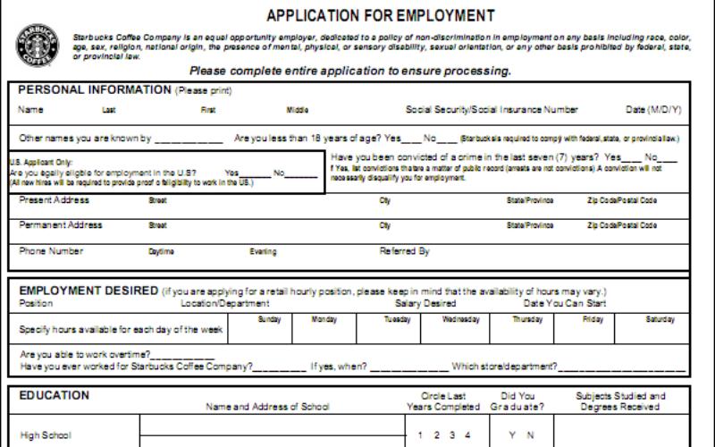 does starbucks hire a felon