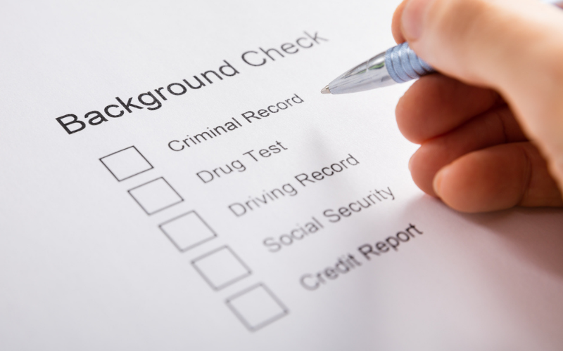 what shows up on a background check