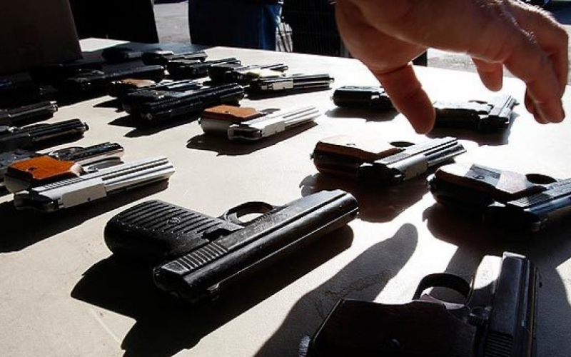 can the felon go to shooting range