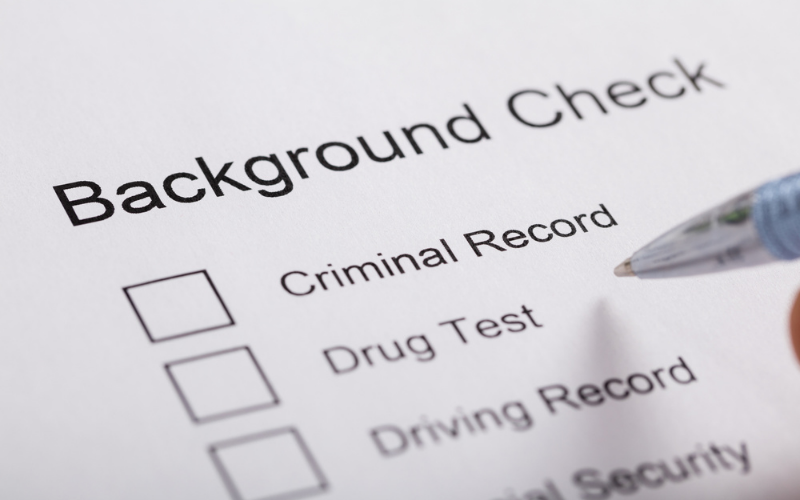 do hospitals run background check