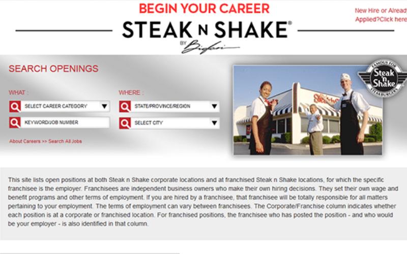 does the steak n shake hire felon