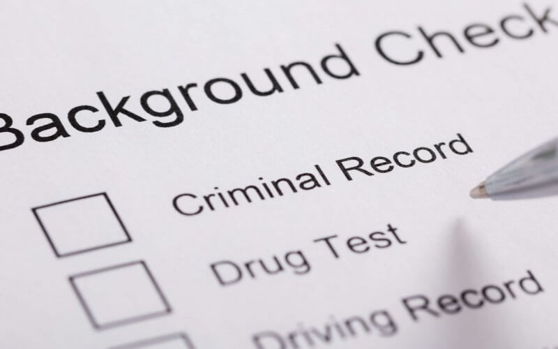 does military run your background check