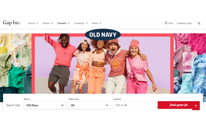 How to Apply for a job at Old Navy