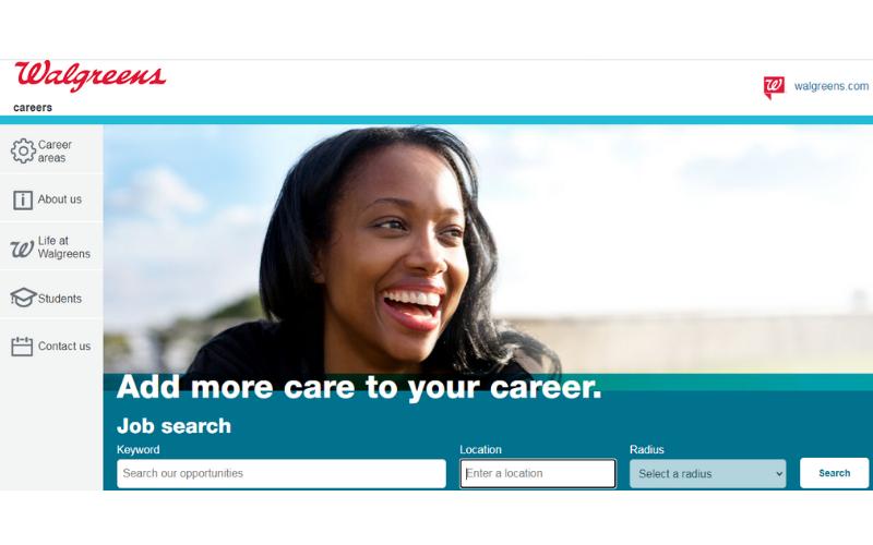 The job application process of Walgreens
