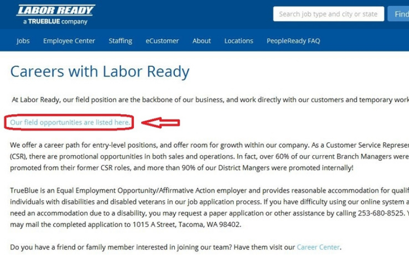 labor ready application tip