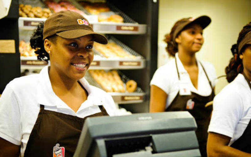 the dunkin donuts application tip