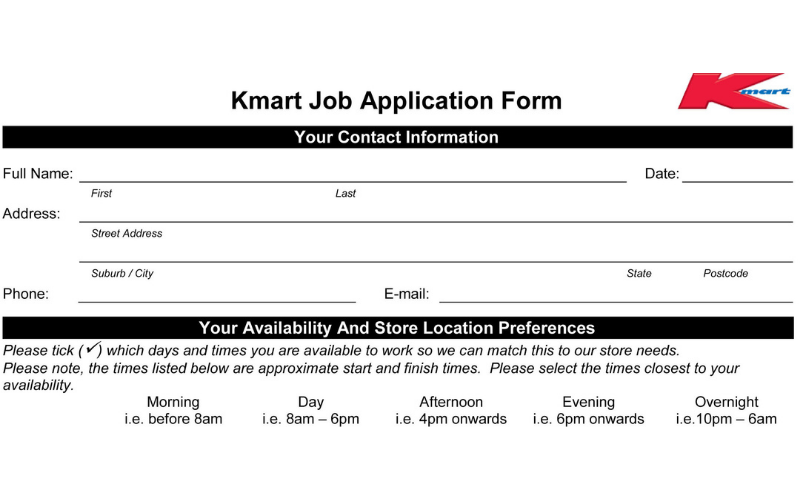 the kmart application