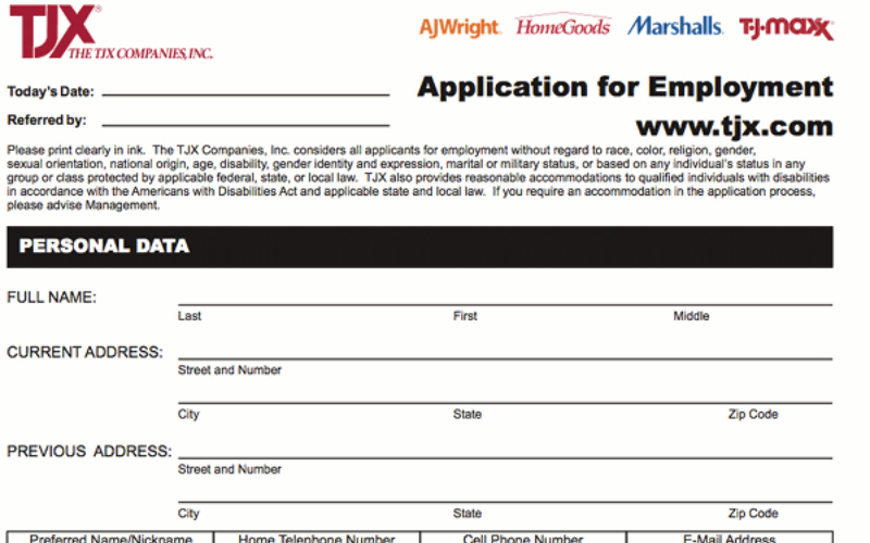 the marshalls application guide
