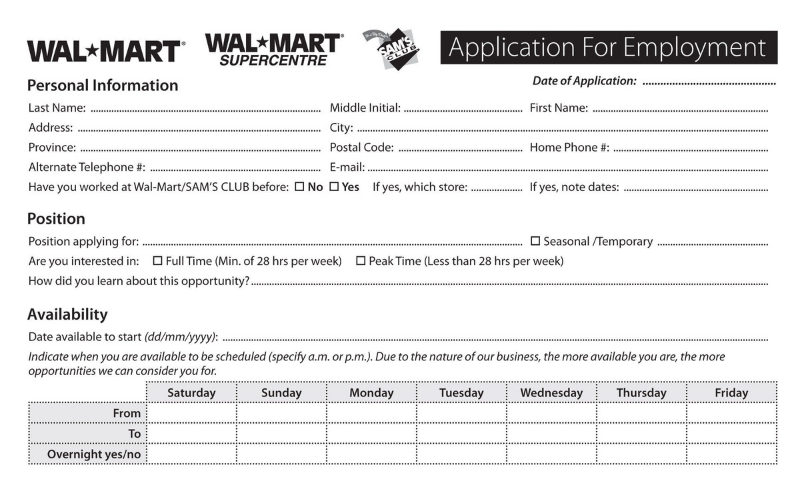 walmart application tips