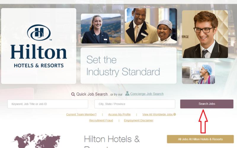 hilton hotels application tip