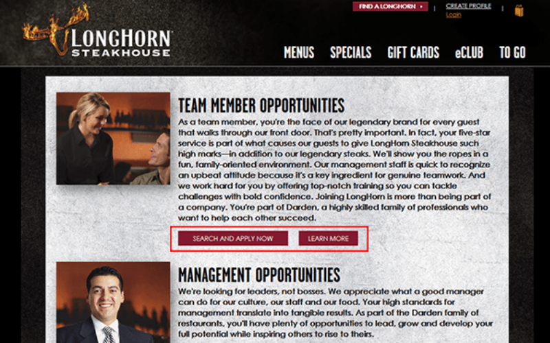 the longhorn steakhouse application tip