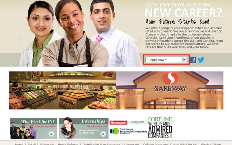the safeway jobs application tip