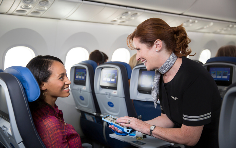the united airlines application tip