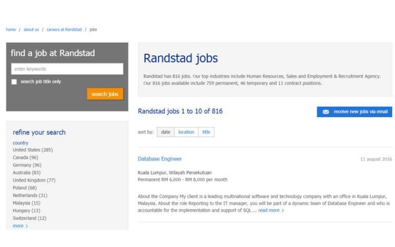randstad application tips