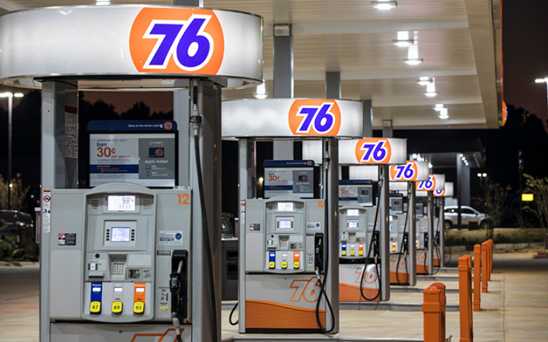 the 76 gas station application