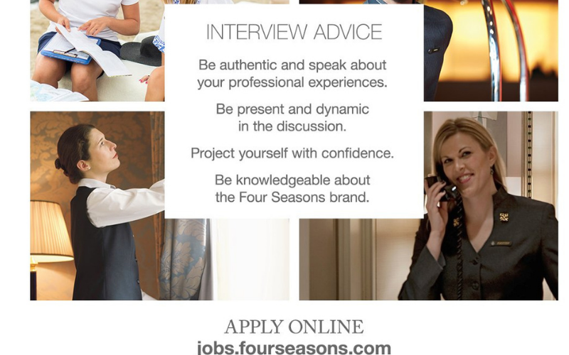the four seasons application tips