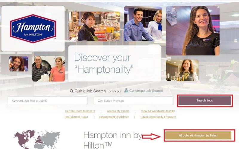 the hampton inn application tips