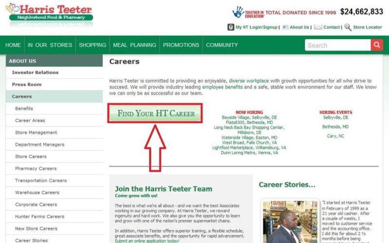 the harris teeter application guide