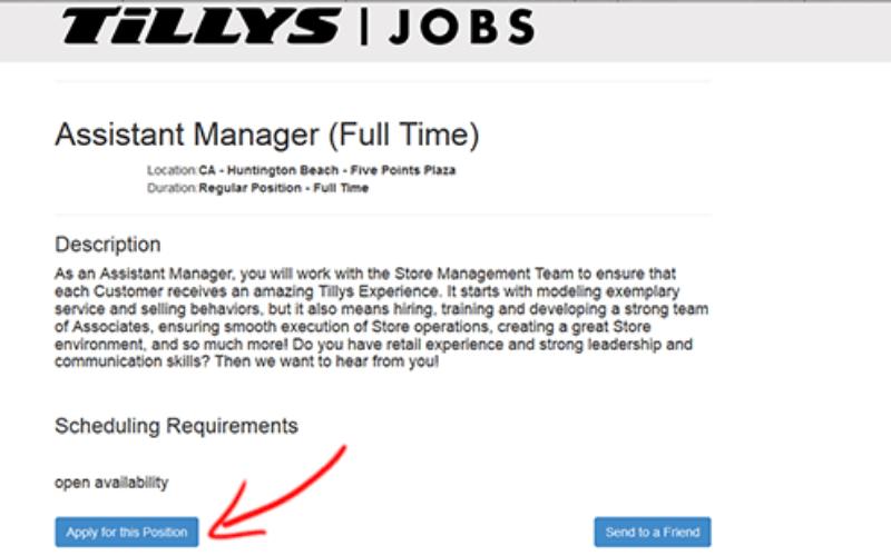 tillys application tip