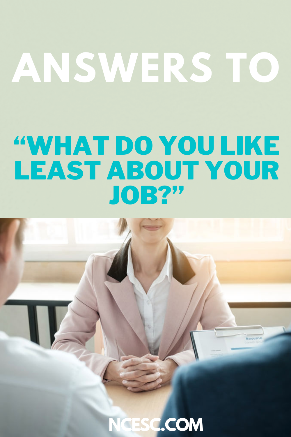 answers to what do you like least about your job
