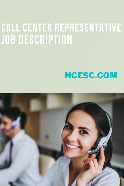 call center representative job description