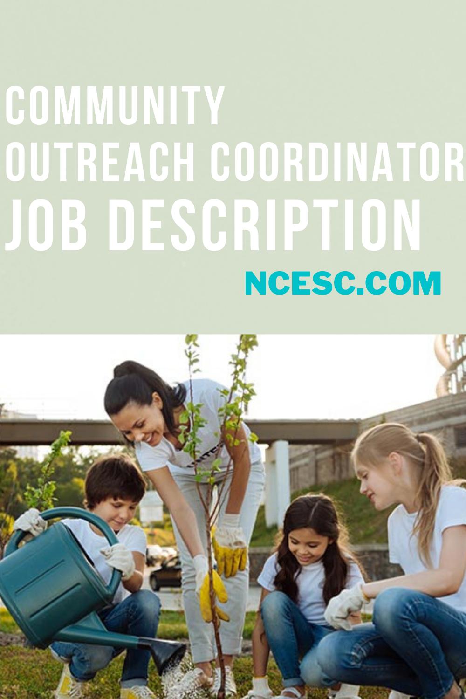 community outreach coordinator job description