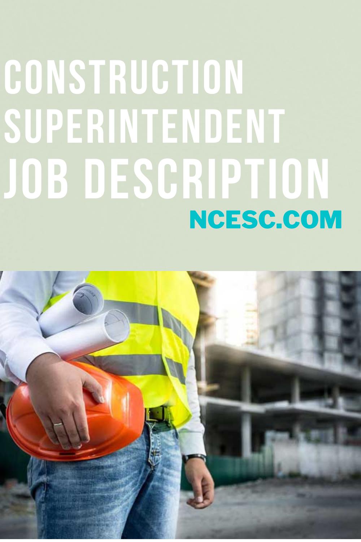construction superintendent job description