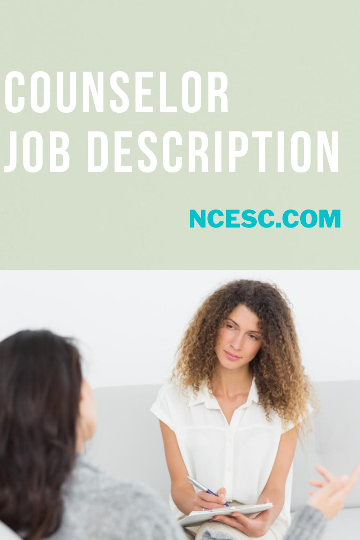 counselor job description