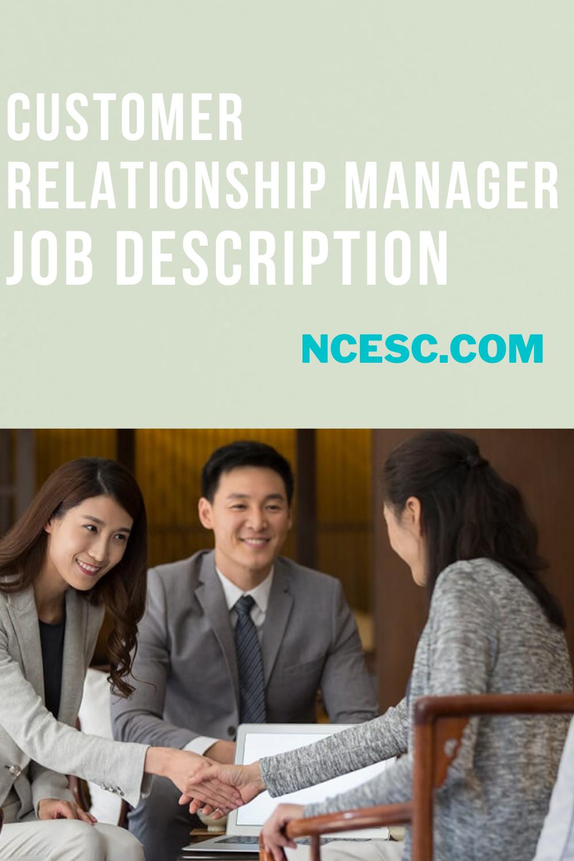 customer relationship manager job description