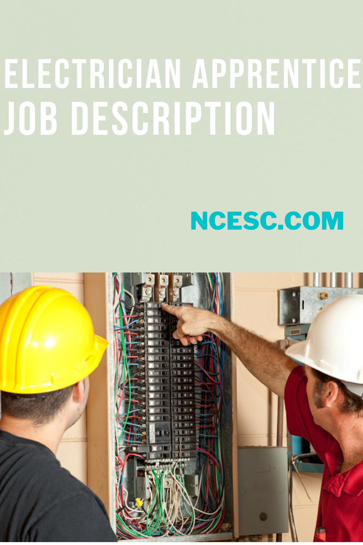 electrician apprentice job description