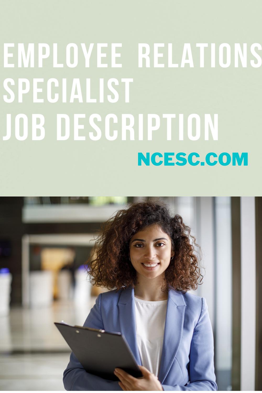 employee relations specialist job description