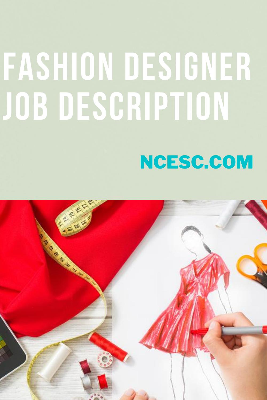 fashion designer job description