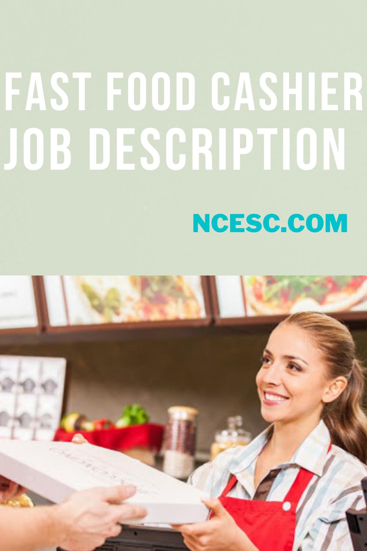 fast food cashier job description