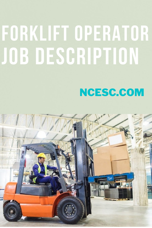 forklift operator job description
