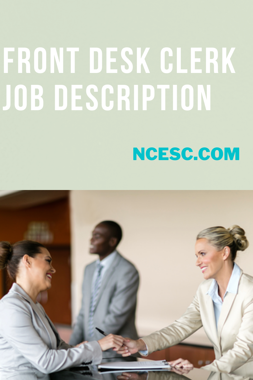 front desk clerk job description