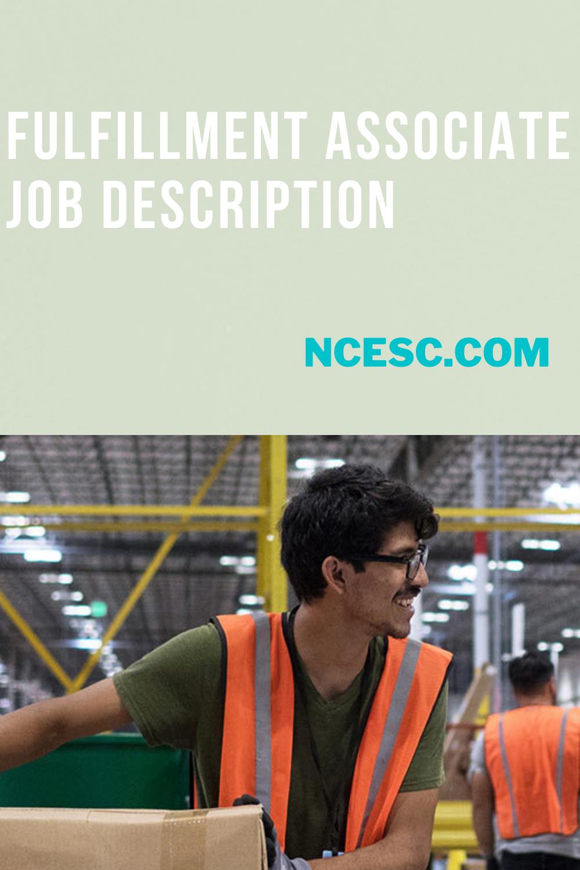 fulfillment associate job description