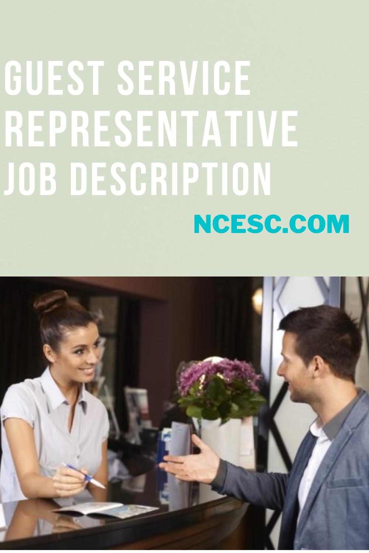 guest service representative job description