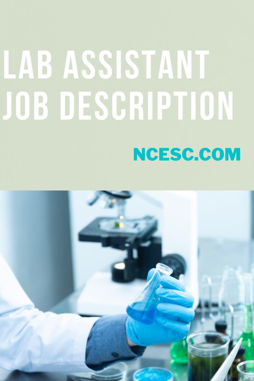 lab assistant job description
