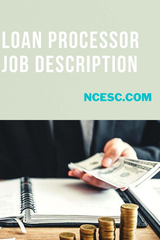 loan processor job description