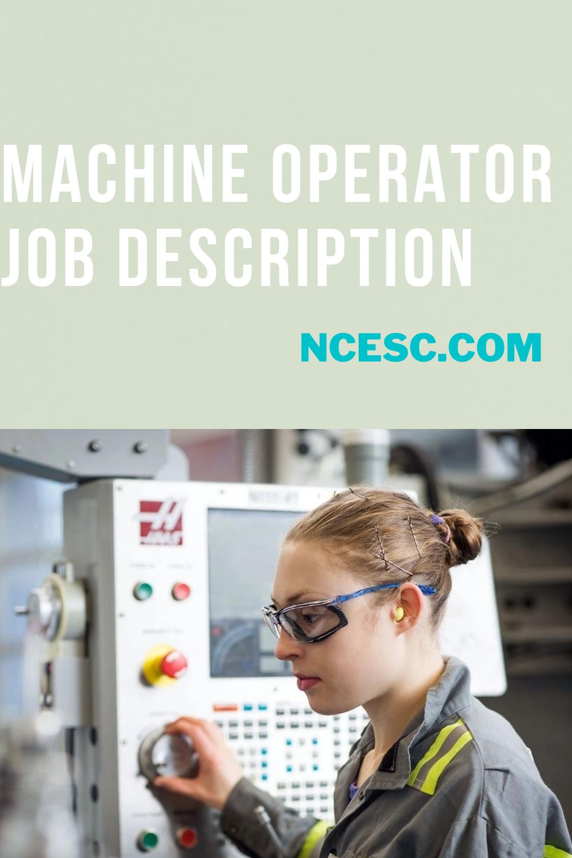 machine operator jd