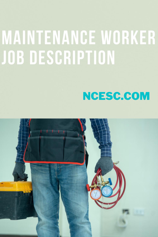 maintenance worker job description