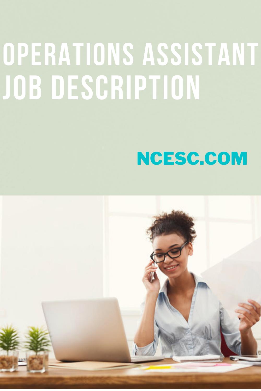 operations assistant job description