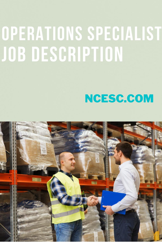 operations specialist job description