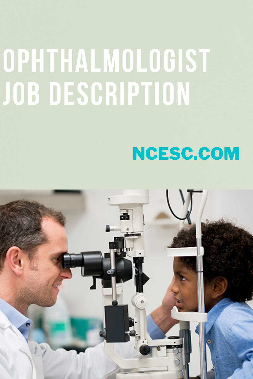 ophthalmologist job description