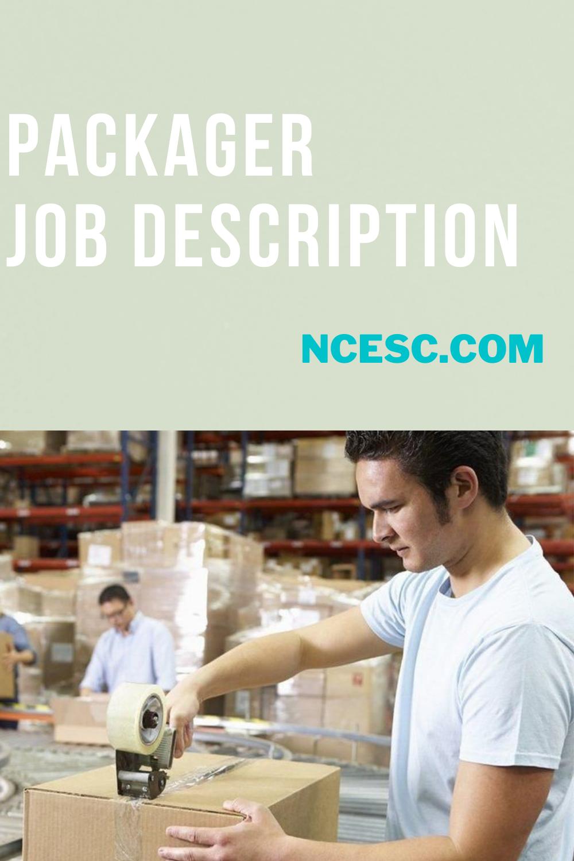 packager job description