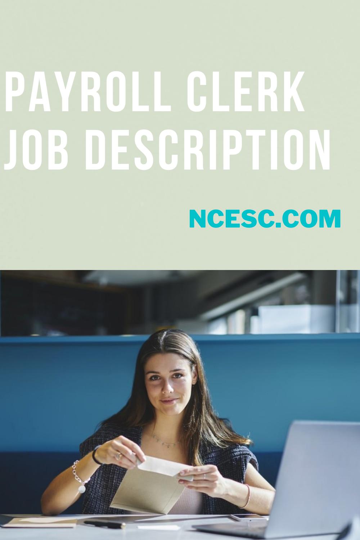 payroll clerk job description