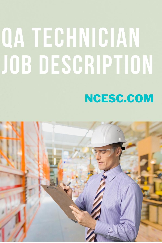 qa technician job description