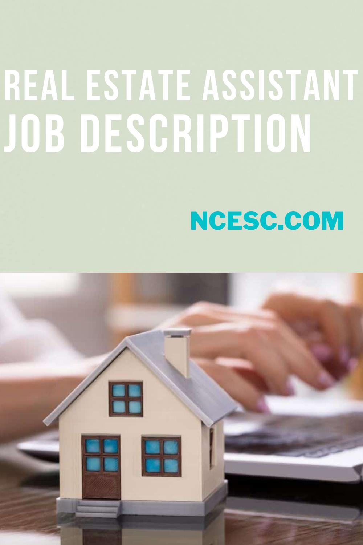 real estate assistant job description