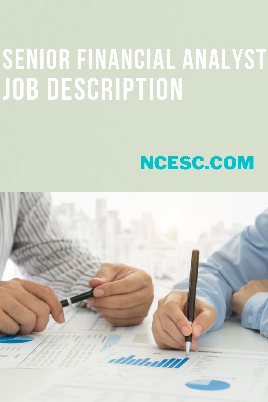 senior financial analyst job description