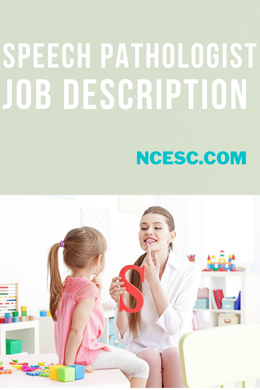 speech pathologist job description